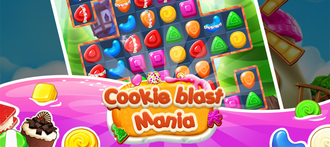 Cookie Blast Mania Match 3 Template