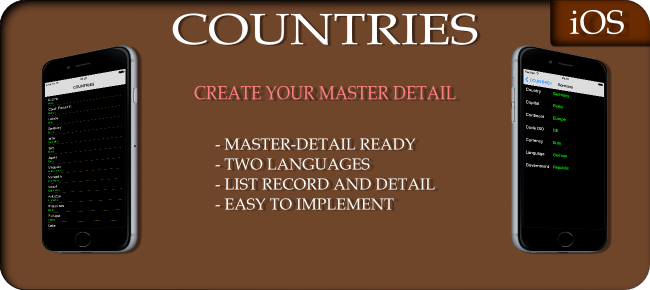 Countries - Create Your Master Detail