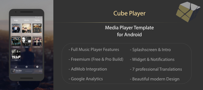 Cube Player - Music Player Template for Android
