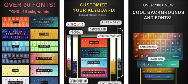 Custom Keyboard App - Backgrounds, Themes & Fonts