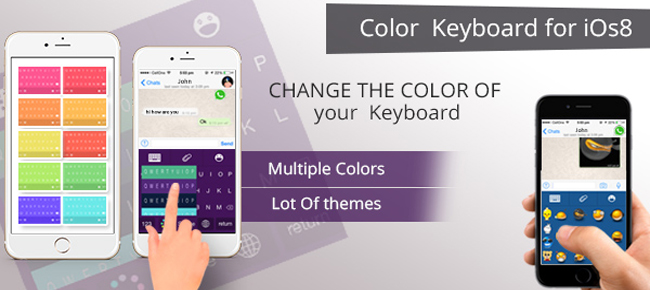 Custom Keyboard iOS 8 With Themes And Sticker