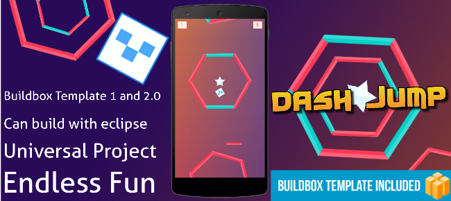 Dash Jump - Android and Buildbox 1 & 2 Templates