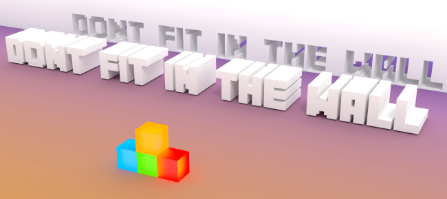 Don't Fit In The Wall