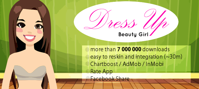 Dress Up Girl: Template - Android - Easy to Reskin