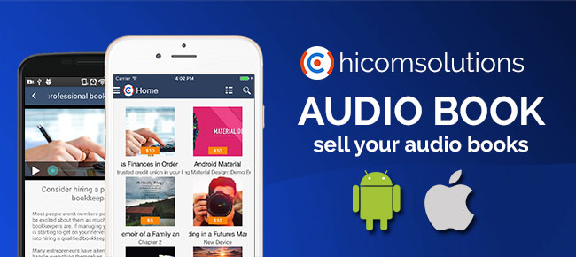 E-Audio bookstore: sell your audio books (iOS)