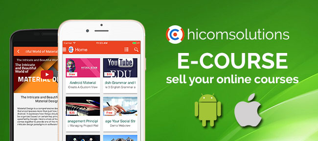 E-Course: sell your online courses for android