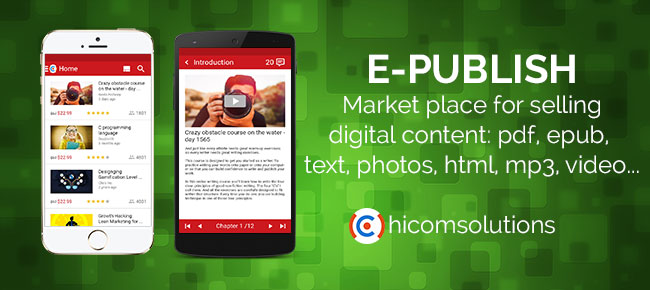 ePublish: Marketplace sell & buy digital content