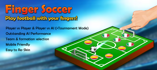 Finger Soccer, Complete Game Template for Unity
