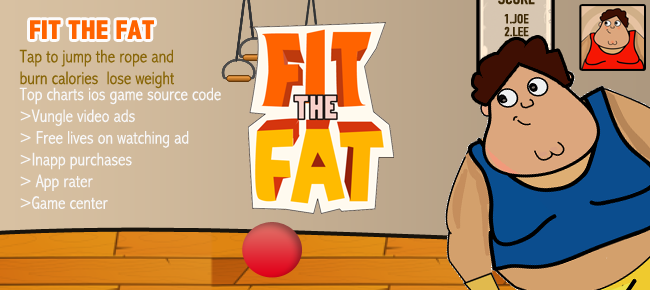 Buy Fit The Fat: Top Charts iOS Game Template Casual | Chupamobile.com