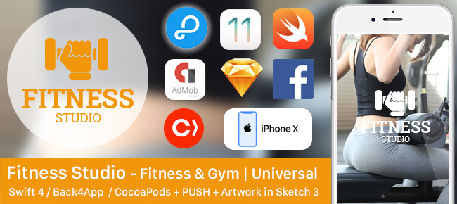 Fitness Studio - Fitness & Gym + Backend + Push