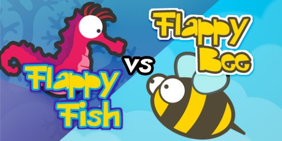 Flappy Bee vs Flappy Fish for Android
