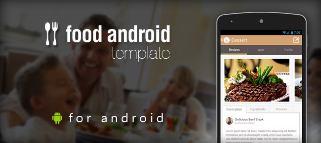 Food Android App Template