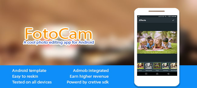 FotoCam Photo editor and effects for android