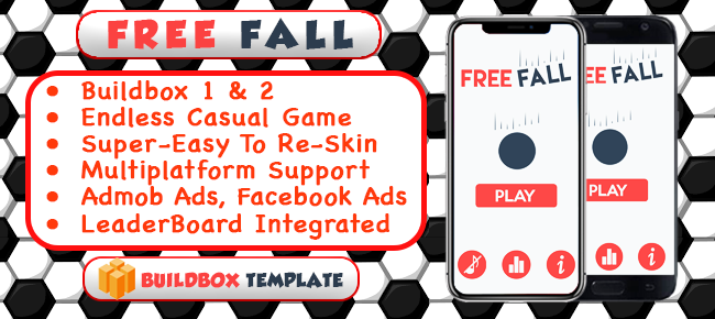 Free Fall – One Touch Game Buildbox Template