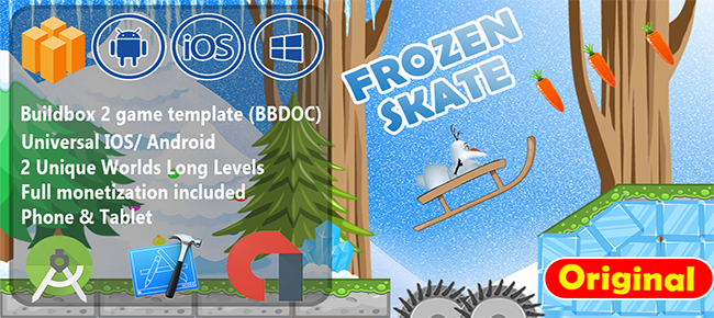 Frozen Skater- BuildBox 2 Game Template