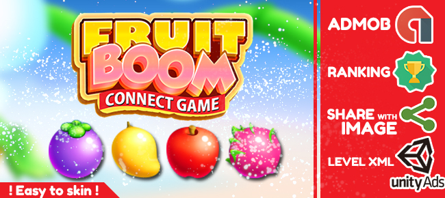 Buy Fruit Boom Casual and Puzzle For Unity | Chupamobile.com
