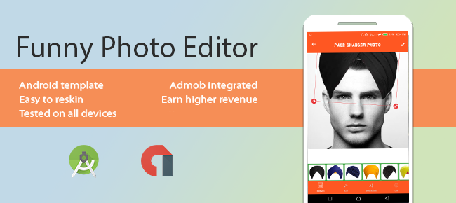 Funny Photo Editor for Android with Admob