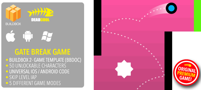 Gate Break - BuildBox 2 Game Template Document iOS