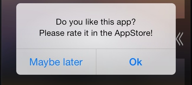 Get more AppStore ratings with recurring UIAlert