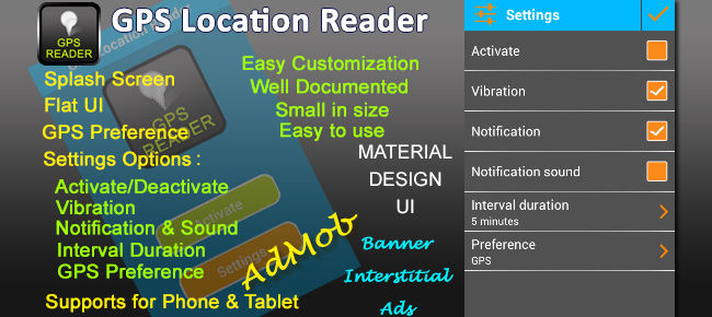 GPS Location Reader Template
