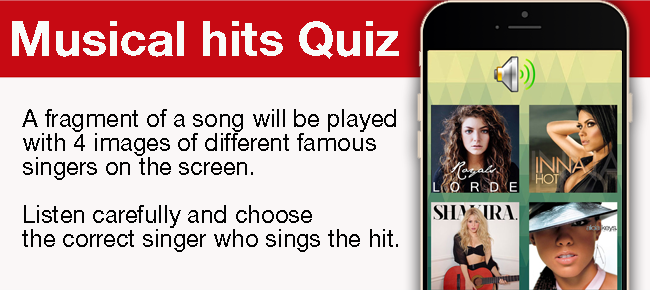 Guess the song! Musical Hits Quiz Game