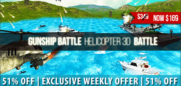 GUNSHIP BATTLE Helicopter 3D Attack