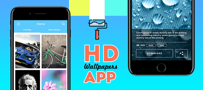 HD Wallpapers App UI Design