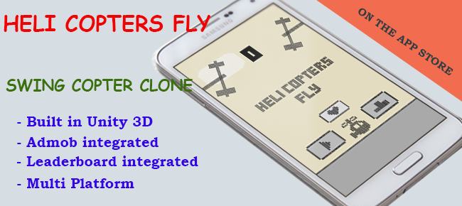 Helicopters Fly - Swing Copter Style Game