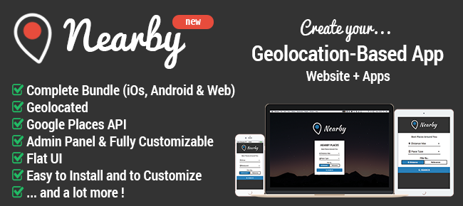 Nearby - Geolocation-Based Apps & Website