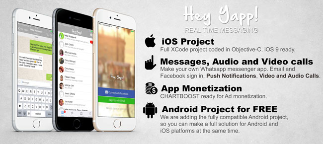 Hey Yapp! (WhatsApp App Template) - iOS & Android