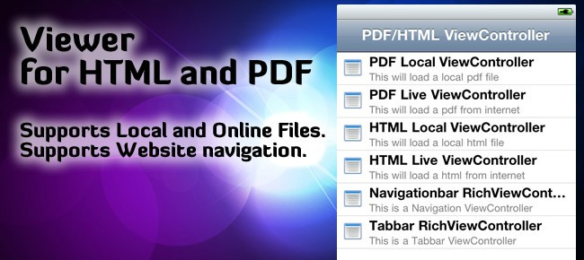 HTML & PDF Viewer for iPhone