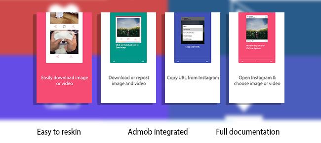 Instagram photo Video Download & Repost with admob