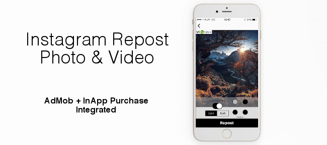 Instagram Repost Photo & Video - Ready to publish
