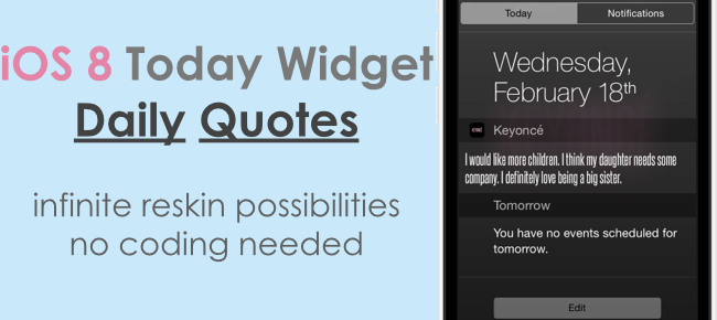 iOS 8 Today Widget Extension - Daily Quotes