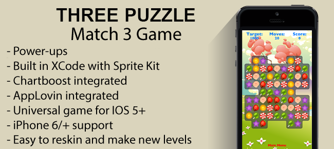 iOS Match 3 Puzzle Game