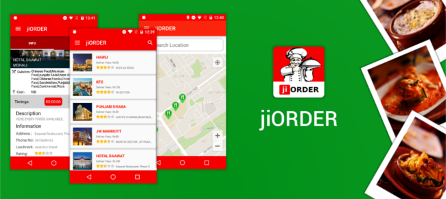 jiORDER: A Food Ordering and Restaurant Menu App