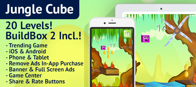 Buy Jungle Cube: BuildBox Game Template (Easy Reskin) Casual For iOS ...