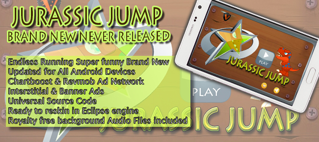 Jurassic Jump - Brand New Never Released Android