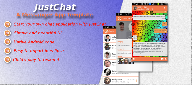 JustChat- Android Chatting App Template