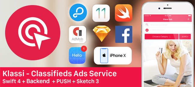 Klassi - Classifieds Ads + Back4app + Push