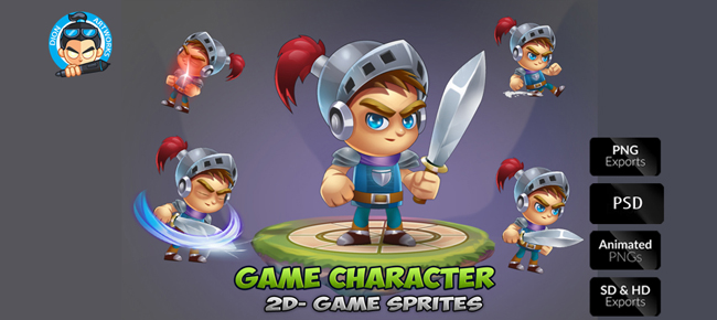 knight 2D Game Character Sprites 01