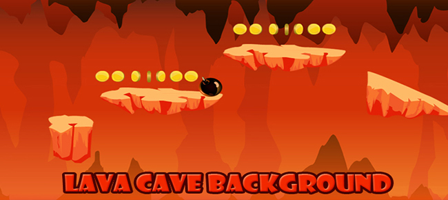 LAVA CAVE BACKGROUND