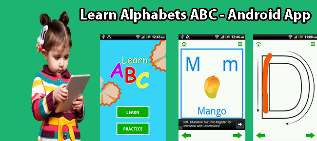 Learn Alphabets ABC - ADMOB