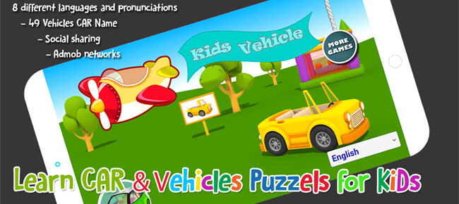 Learn Car & Vehicles Name and Sounds for KIDS