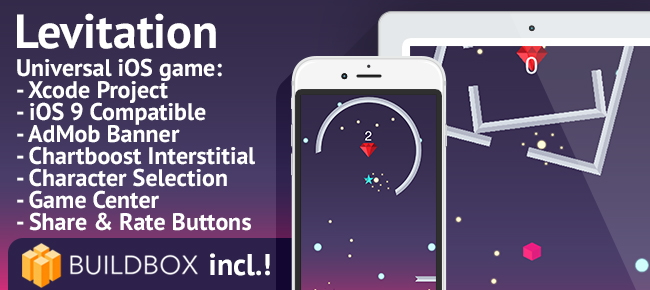 buy template game  Buy Levitation - iOS Easy Reskin Game Template Arcade and Action ...