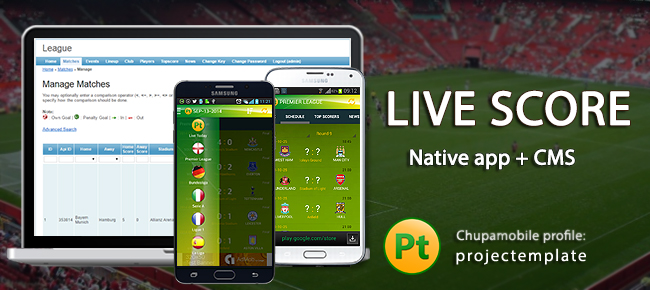 Live-score Football 5 Leagues in 1 Android App