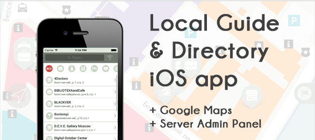 Local guide app with Google Maps + Server Panel