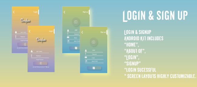 Login & sign up Design App