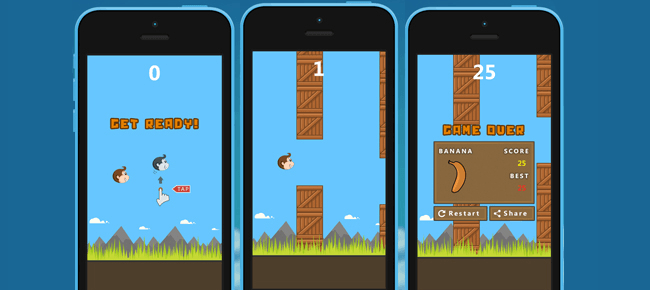 Lost Chimp - Flappy Bird Style Game