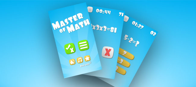 Master of Math game template